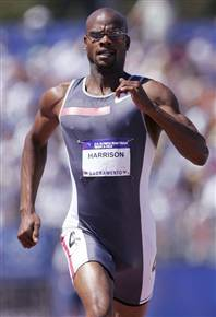 Calvin  Harrison has been knocked off the U.S. team for the Athens Olympics after repeatedly failing drug tests
