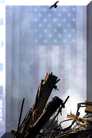 The World Trade Center collapsed crashing down from a quarter mile high in less than ten seconds