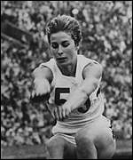 Long jump champion Mary Rand (Toomey) in 1964